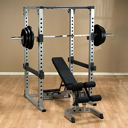Body Solid Power Rack GPR378 Package with Bench, 300 lb. Weight Set by Body-Solid