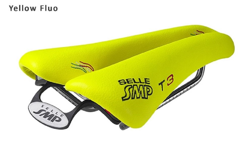 NEW Selle SMP TRIATHLON Bicycle Saddle Seat - T3 Yellow FLUO. . . Made in Italy