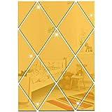 Adesivo de parede em espelho 3D, Forma de diamante Faça você mesmo Decalques de parede autoadesivos acrílicos decorativos (Co