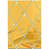Adesivo de parede em espelho 3D, Forma de diamante Faça você mesmo Decalques de parede autoadesivos acrílicos…