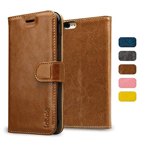 Labato Compatible with iPhone 6S Case and iPhone 6S Wallet Leather Case, Genuine Leather Case Flip Folio with Card Slots…