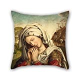 quilted velour throw - 20 X 20 Inches / 50 By 50 Cm Oil Painting Colijn De Coter - The Mourning Mary Magdalene Cushion Covers Both Sides Ornament And Gift To Coffee House Indoor Dinning Room Monther Adults