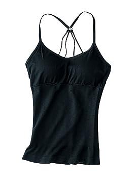 Camiseta Sujetador Con Cojines Para El Pecho Camiseta Sin Mangas Mujer Un tamaño Negro: Amazon.es: Deportes y aire libre