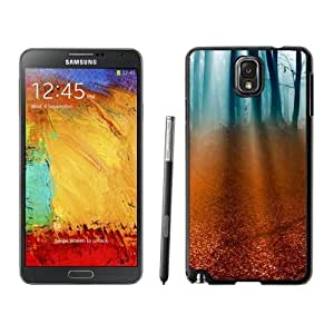 NEW Unique Custom Designed For Case HTC One M8 Cover Phone Case With Light Rays Forest Floor_Black Phone Case