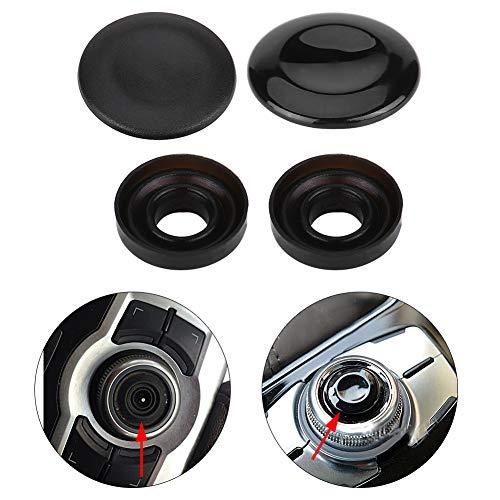 Joystick Knob Repair Kit, Joystick Center Button Cover for Audi A4 A5 A6 Q5 Q7 S5 S6 Paint (Black) ()