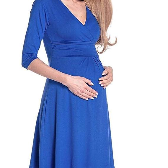 Sunjing Pijamas De Maternidad para Mujer/Vestidos De Lactancia/Pijamas De Enfermería/Vestidos De Maternidad Vestidos De Pijama De Lactancia: Amazon.es: ...