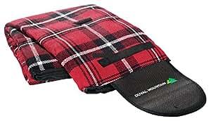 TheBigShip® tartán Picnic alfombra 125cm x 150cm, rosso