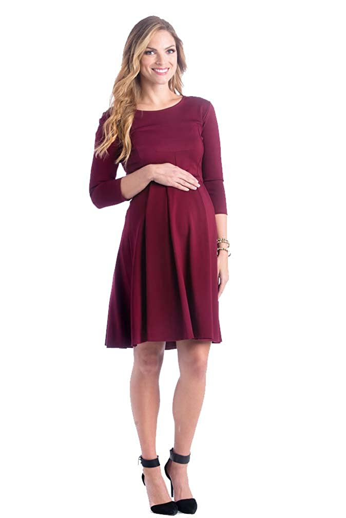 9dccaa63f03 Lilac McCall Fit and Flare Maternity Dress at Amazon Women s Clothing store