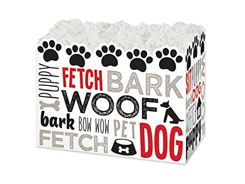 (Pack Of 6, Small Dog Lovers Gift Basket Boxes 6-3/4 X 4 X 5