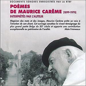 Poèmes de Maurice Carême (1899-1978) - Interprétés par l'auteur Hörbuch