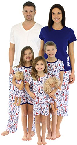 SleepytimePjs Family Matching Nautical Cotton Pajama Pjs Sets for Family Vacations