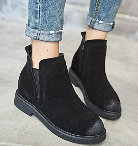 KUKI autumn women boots Martin boots frosted high boots cheap women boots light breathable casual shoes black