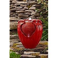 Essential Garden Glazed Pot Fountain (Red)
