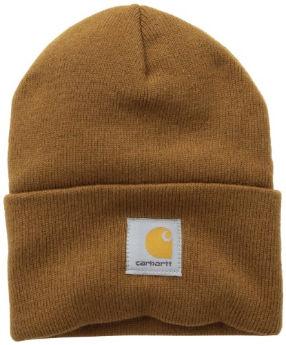 Carhartt Men's Acrylic Watch Hat A18, Brown, One Size]()