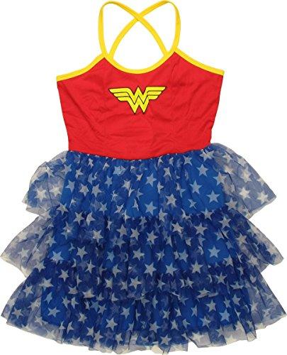 Wonder Woman Mini Skirt Dress (Extra-Large) (Large Image)