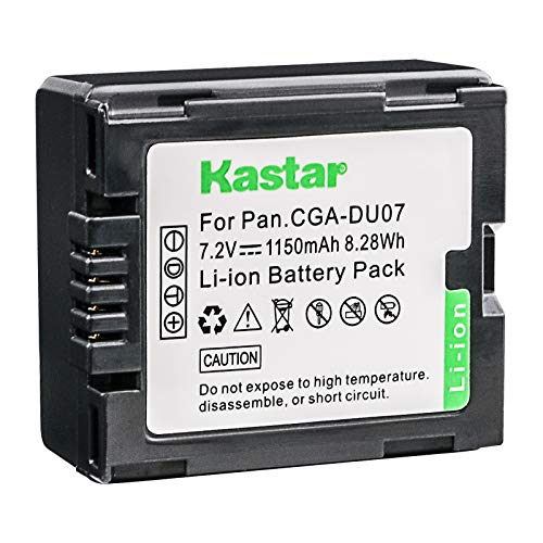 Kastar Camcorder Battery Replacement for Panasonic CGR-DU06 CGA-DU06 CGR-DU07 CGA-DU07 CGR-DU14 CGA-DU14 CGR-DU21 CGA-DU21 and Hitachi DZ-BP14S DZ-BP7S DZ-BP21SJ Battery    ()