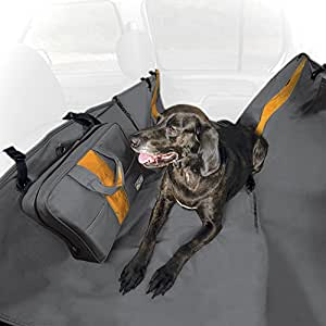 Kurgo Waterproof Wander Hammock and Car Seat Cover for Dogs, Charcoal Grey - Lifetime Warranty