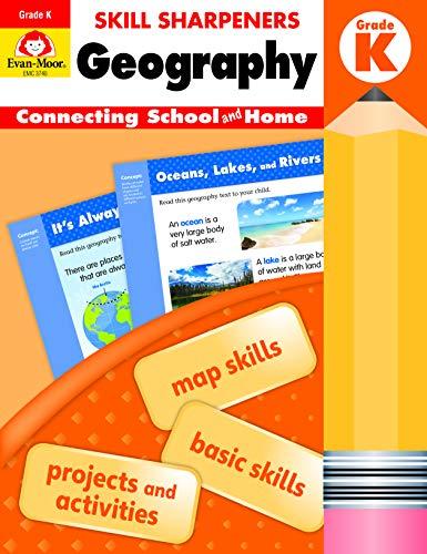 Evan-Moor Skill Sharpeners: Geography Grade K Student Edition Supplemental or homeschool Activity Book, Basic Map Skills