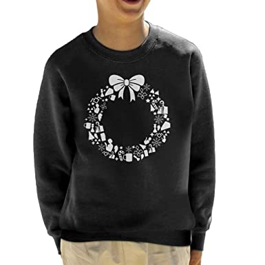 Twin Peaks Christmas Wreath Pattern Kids Sweatshirt Amazoncouk