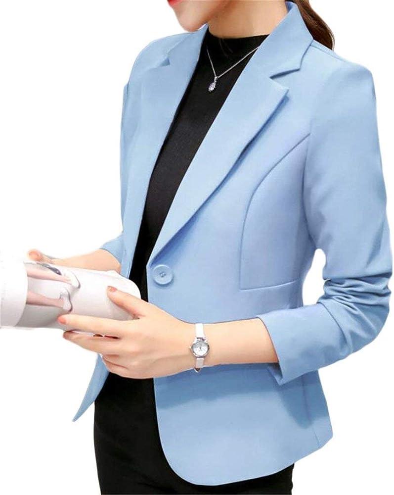 Battercake Camisa Mujer Otoño Elegante Americana Unicolor Manga Larga Casuales Mujeres De Solapa Slim Fit Botonadura Abrigos Chaqueta (Color : 2, Size : S): Amazon.es: Ropa y accesorios