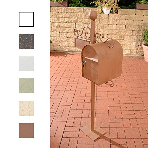 CLP Nostalgie Design Stand-Briefkasten CHARLIZE, freistehend, 150 cm, mit Namensschild, bis zu 6 FARBEN wählbar antik-braun