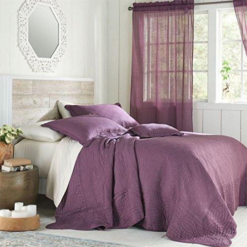 Brylanehome Florence Bedspread (Plum,Queen)