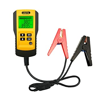 12v Car Battery Alternator Tester Eoutil Digital Auto Battery Analyzer With Lcd Display Test Battery Life Percentage Voltage Resistance And Cca