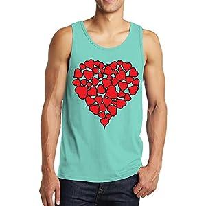 SpiritForged Apparel Heart Of hearts Men's Tank Top, Teal Medium