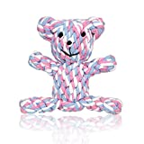 Pet Dog Rope Toy for Small to Medium Dogs - Training Toy Gift for Puppy Doggie - Teeth Cleaning Chew Cutton Rope Toy - Bear