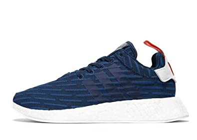 ADIDAS Originals NMD R2 Primeknit (Navy Blue, Men 10)