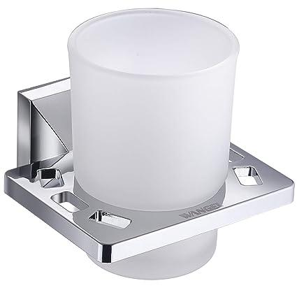 Wangel Portacepillos de Dientes Incluye Vaso de Cristal, Baño Cepillo de Dientes Pasta de Dientes