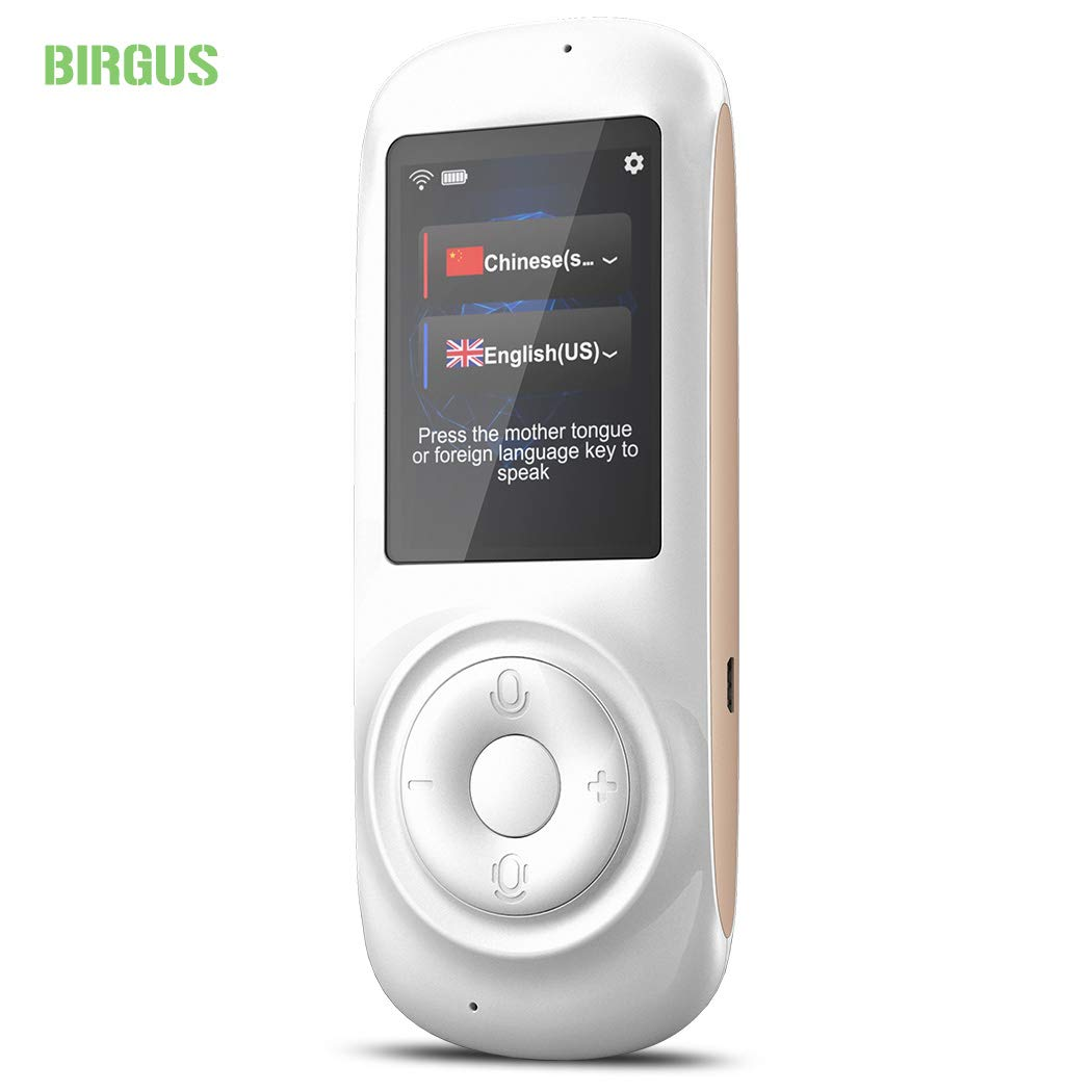 birgus Voice Translator Device Smart Language Interpreters Device with 2.4inch Capacitive Touch Screen Support Multi- Languages Freely Translation Machine Business Shopping Interpreter by birgus