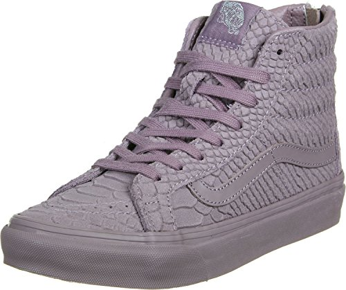 Vans Womens SK8-HI Slim Zip Hight Top Zipper Fashion Sneakers, Purple, Size - Zipper Van