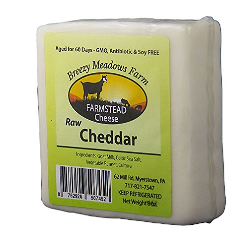BREEZY MEADOWS FARM RAW CHEDDAR (GOAT MILK ONLY) 8 OZ
