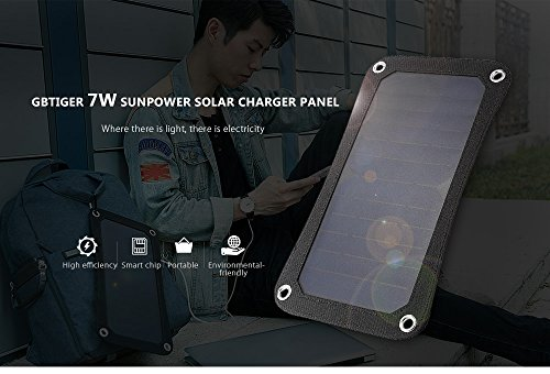 USB Solar Charger, Waterproof Foldable PowerPort Solar Solar Panel Power Emergency Bag Outdoor for iPhone iPad Cell Phone,Backpack (7W) by Smart for Life (Image #2)