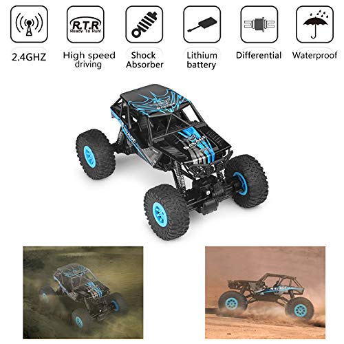 Areyourshop Wltoys 10428-D 1/10 Scale 2.4G 4WD Electric Brushed Crawler RTR RC Car Remote Sand Trucks from Areyourshop