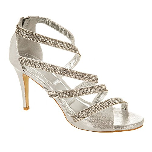 Diva toe Donna Miss Silver Shoes Peep pcdZd6gqy