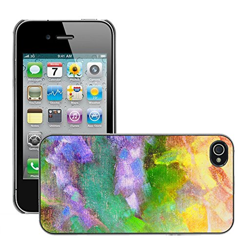 Premio Sottile Slim Cassa Custodia Case Cover Shell // V00001873 abstraite polychrome // Apple iPhone 4 4S 4G