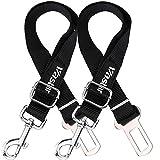 Vastar 2 Packs Adjustable Pet Dog Cat Car Seat Belt Safety Leads Vehicle Seatbelt Harness, Made from Nylon Fabric