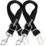 Vastar 2 Packs Adjustable Pet Dog Cat Car Seat Belt Safety Leads Vehicle Seatbelt Harness - Made from Nylon Fabric