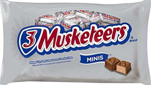 3 MUSKETEERS Chocolate MINIS Size Candy Bars 10-Ounce Bag (Pack of 4)