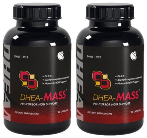 DHEA-Mass DHEA 100 мг 180 капсул 2 бутылки