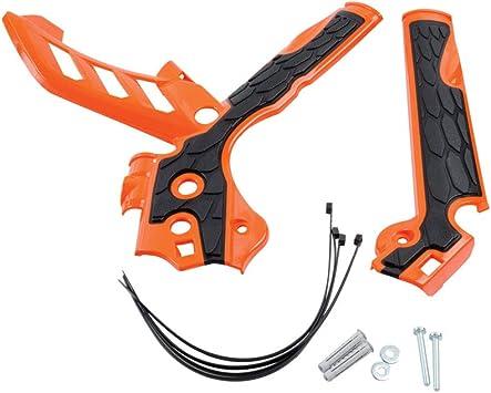 Acerbis X-Grip Frame Guards 16 KTM Orange//Black KTM 125 SX 2016,150 SX 2016;
