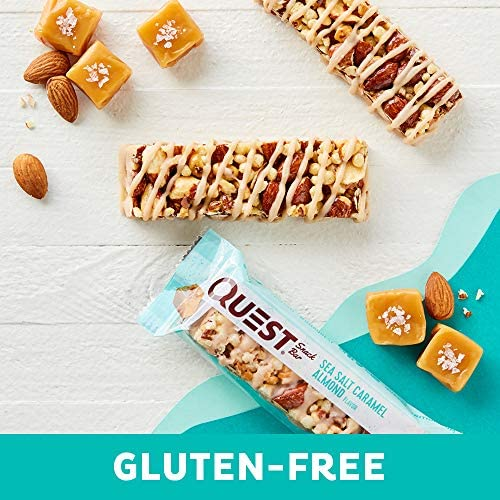 Quest Nutrition Sea Salt Caramel Almond Snack Bar, High Protein, Low Carb, Gluten Free, Keto Friendly, 12-Count 8