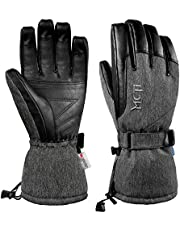 MCTi Ski Gloves Winter Waterproof Snow Snowboard PU Leather 3M Thinsulate Warm Gloves for Mens Womens
