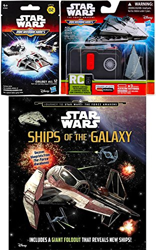 Star Wars The Force Awakens Micro Machines Blind Bag Pack + Star Wars MicroMachines Control Ship First Order Star Destroyer & Ships of the Galaxy Journey Book