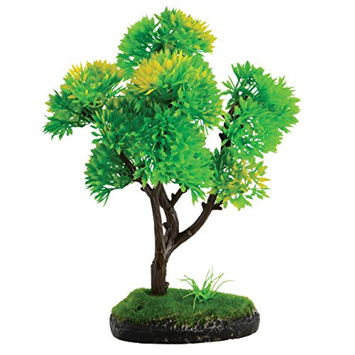 Underwater Treasures 74443 Bonsai Green & Yellow Tree, 7'' by Underwater Treasures