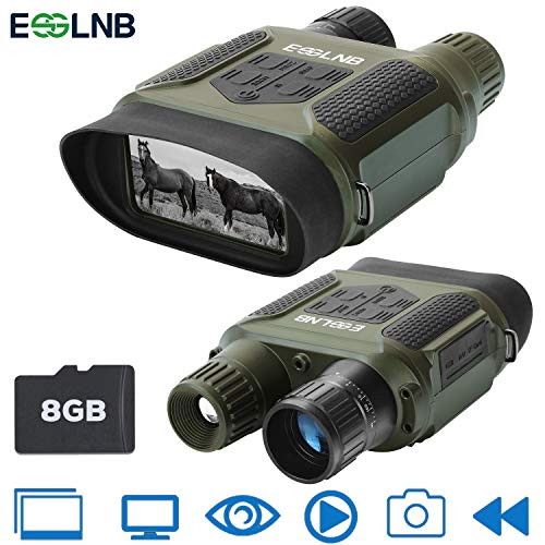 ESSLNB Night Vision Binoculars 1300ft Digital Night Vision Scope 7x31 Infrared Night Vision Hunting Binocular with 2