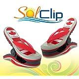 Beach Towel clips, pegs, clothespins, épingles, pinces à serviette de plage, SolClip canada, FLIP FLOP CANADA
