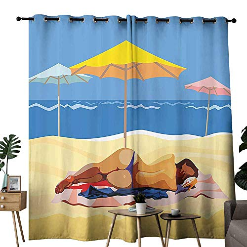 Heat Insulation Curtain Beach Decor Illustration of for sale  Delivered anywhere in Canada